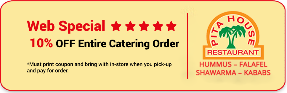 pitahouse coupon - web special 10% off full catering